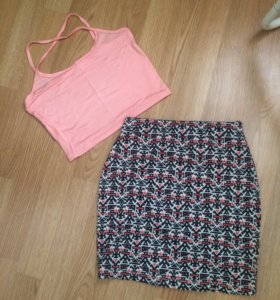 Комплект юбка+топ