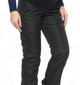 Утепленные брюки для беременных I love mum