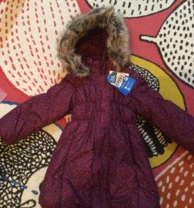 Lassie новое зимнее пальто 98+
