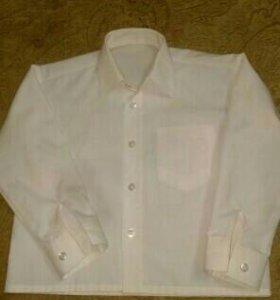 Рубашка белая р.98-104