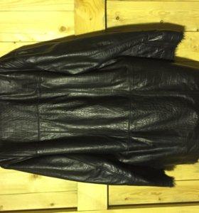Мужское кожанное зимнее пальто (куртка)