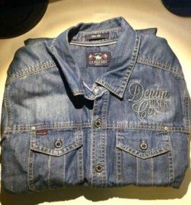 Мужская джинсовая рубашка U.S.Polo Assn