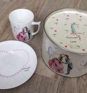 Подарочный детский набор посуды для девочки