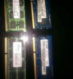 Оперативная память для ноутбуков на 2гб и 4 гб