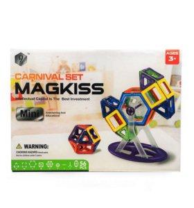 Магнитный конструктор MagKiss MINI 56 деталий