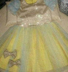 Золотое новое платье