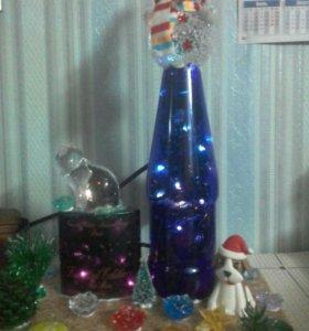 Самодельная светящая бутылочка