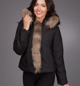 Новая куртка с натуральным мехом,еврозима