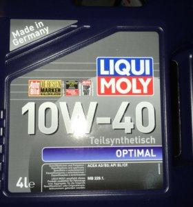 Масло liqui moly 10w 40 optimal