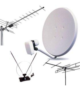 Установка спутниковых антенн триколор