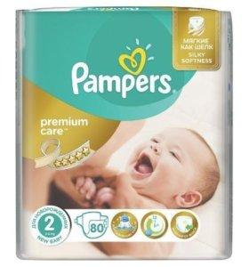 Подгузники Pampers premium care 3-6кг(74шт)