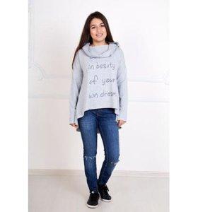 Толстовка, блуза, кофта 48-50размер НОВАЯ