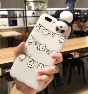 Чехолы на iPhone 6s панды 3D