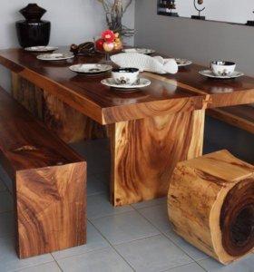 Мебель из массива на заказ любой сложности