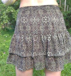 Летняя юбка с рюшами