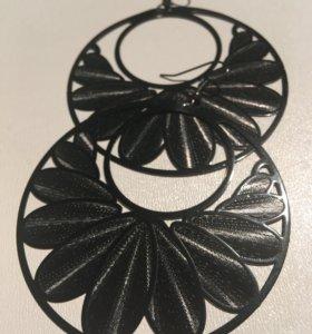 Серьги-кольца с узорами