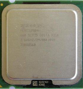 Pentium 4 660 (Коцки на текстолите)