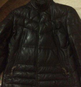 Куртка зимняя кожаная мужская М50
