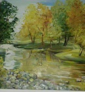 """картина маслом на холсте """"Приморская Осень"""""""