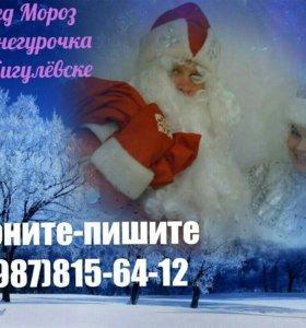 Дед Мороз и Снегурочка в Жигулевске