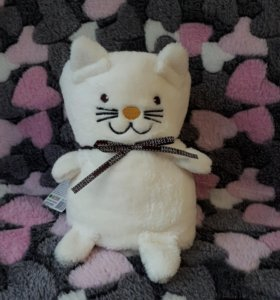 """Плед-игрушка """"Белый Котик"""""""