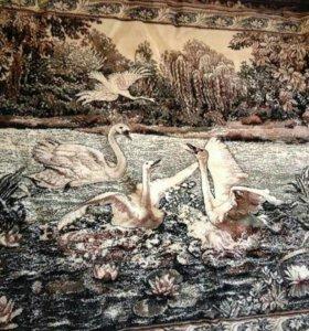 Коврик на стену или на пол (лебеди)