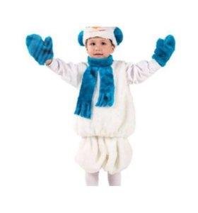 Новый костюм снеговика р.110