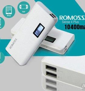 Romoss sense 4Plus емкость 10400 мАч