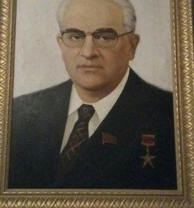 Портрет Ю. Андропова