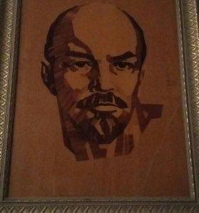Наборный портрет В.И. Ленина