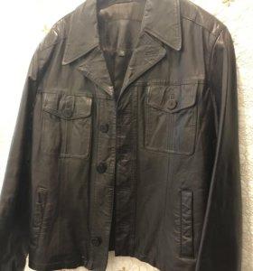 Кожаный мужской пиджак 46-48р