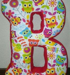 Буквы, цифры подушки