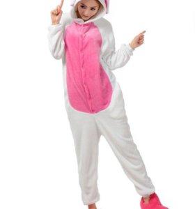 Пижама (кигуруми) Зайчик розовый размер М