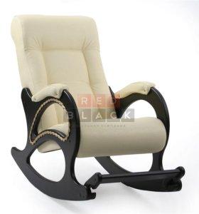 Кресло-качалка комфорт молочная