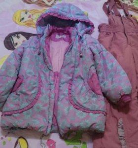 Комбинезон + куртка на девочку