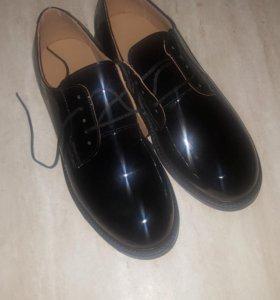 Военные офицерские лакированные ботинки