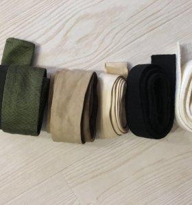 Ремень пояс новый замша кожа текстиль