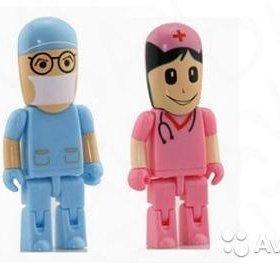 Флешки в виде доктора и медсестры на 16гб