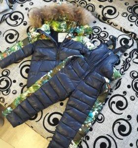 Зимняя куртка и полукомбенизон