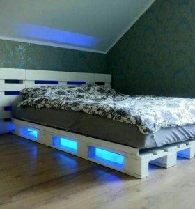 Кровати из поддонов