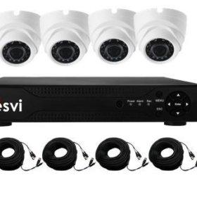 Продам новый комплект видеонаблюдения на 4 камеры