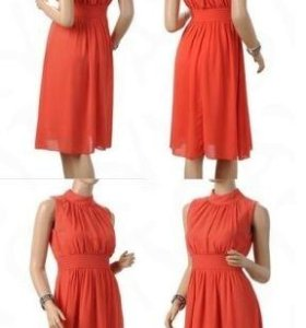 Платье красное S бу