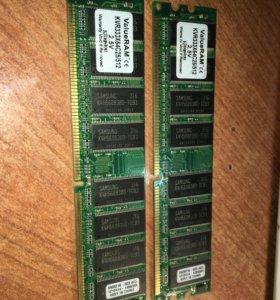 DDR-333 512Mb 2 шт