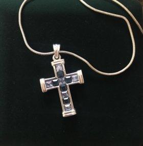 Подвеска крест с цепочкой