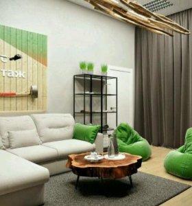 Обтяжка мебели и пошив чехлов на диваны,кресла,