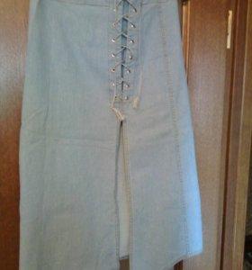 Юбка джинсовая тонкая