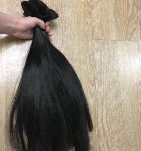 Густые волосы на заколках термо