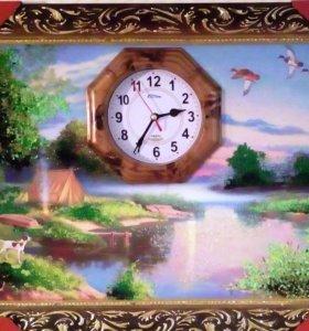 Картина с часами.