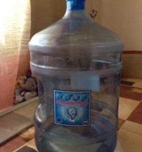 Многоразовая пластиковая бутыль для воды 19 литров