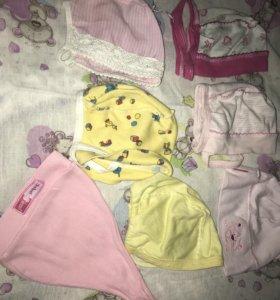 Шапочки для новорожденной девочки